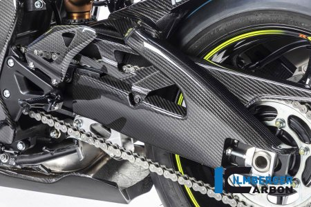 Carbon Fiber Left Side Swingarm Cover by Ilmberger Carbon