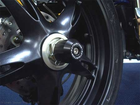 Rear Axle Sliders by Motovation Accessories Triumph / Speed Triple / 2005