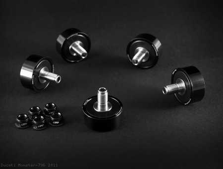 Titanium Stud Rubber Cush Dampers by AEM Factory Ducati / Monster 796 / 2011