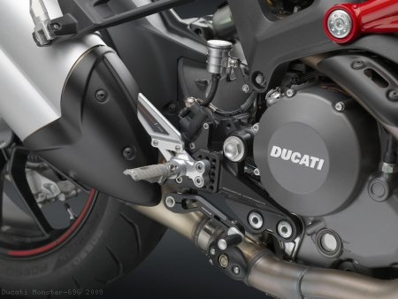 """REV"" Rearsets by Rizoma Ducati / Monster 696 / 2009"