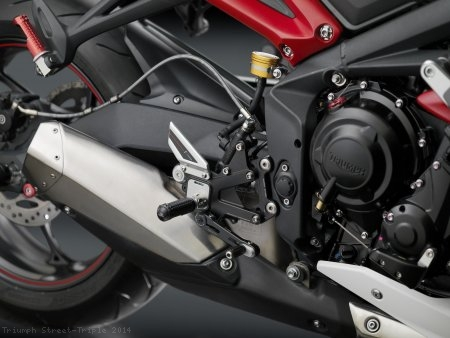 """EVO"" Rearsets by Rizoma - DISCONTINUED Triumph / Street Triple / 2014"