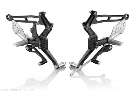 """REV"" Rearsets by Rizoma Ducati / Monster S4 / 2003"