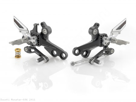 """REV"" Rearsets by Rizoma Ducati / Monster 696 / 2011"