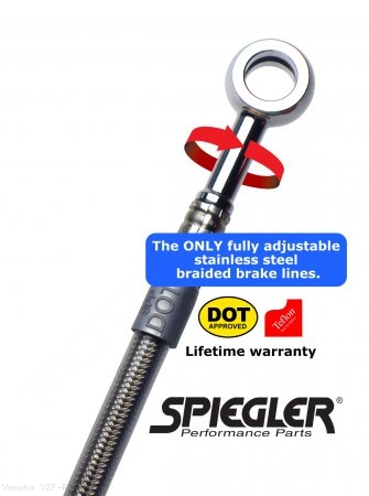 Stainless Steel Premium Front and Rear Brake Line Kit by Spiegler Yamaha / YZF-R3 / 2019