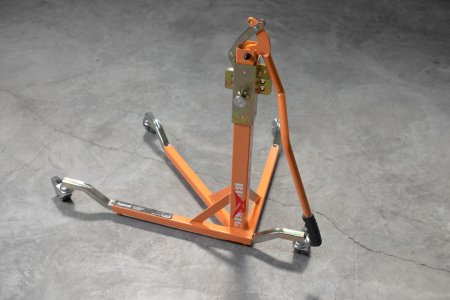BURSIG Racing Stand with Wheels and Bike Adapter