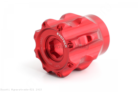 Rear Shock Preload Adjuster by Evotech Italy Ducati / Hyperstrada 821 / 2013
