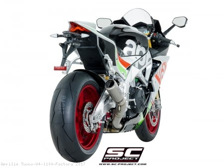 CR-T Exhaust by SC-Project Aprilia / Tuono V4 1100 Factory / 2017