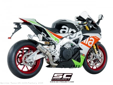 CR-T Exhaust by SC-Project Aprilia / Tuono V4 1100 Factory / 2019