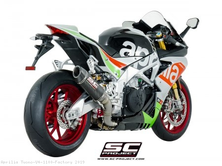 Race Oval Exhaust by SC-Project Aprilia / Tuono V4 1100 Factory / 2019
