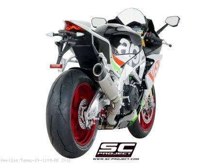 Race Oval Exhaust by SC-Project Aprilia / Tuono V4 1100 RR / 2018