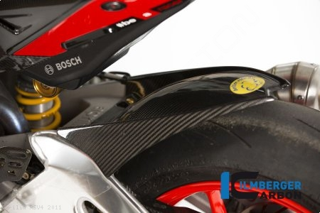 Carbon Fiber Rear Hugger by Ilmberger Carbon Aprilia / RSV4 / 2011