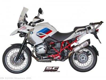 SC1 Oval Exhaust by SC-Project BMW / R1200GS Adventure / 2009