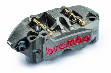 108mm Monobloc Race Caliper (4 Pad 2 Pin) Left Side by Brembo