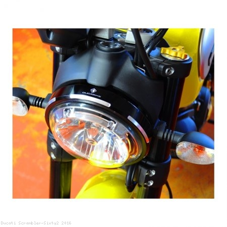 Billet Aluminum Headlight Trim Ring by Ducabike Ducati / Scrambler Sixty2 / 2016
