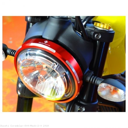 Billet Aluminum Headlight Trim Ring by Ducabike Ducati / Scrambler 800 Mach 2.0 / 2018