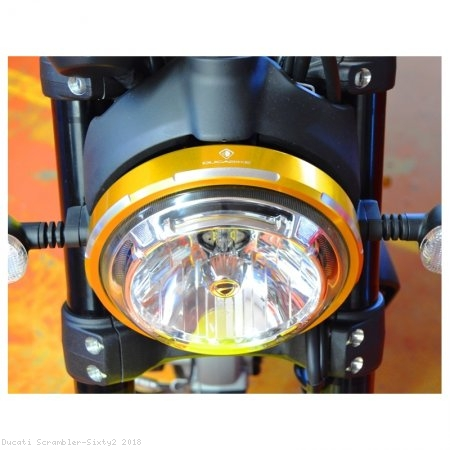Billet Aluminum Headlight Trim Ring by Ducabike Ducati / Scrambler Sixty2 / 2018