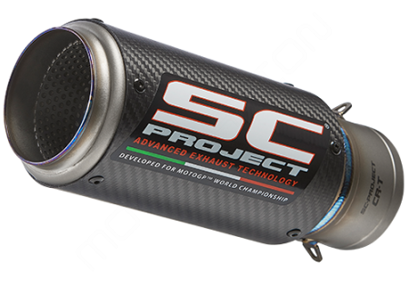 Replacement CR-T Exhaust Silencer for SC-Project 65mm Link Pipe Universal