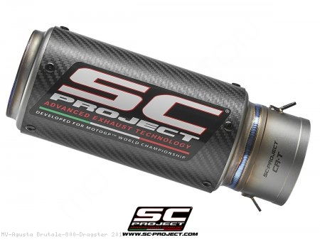 CR-T Exhaust by SC-Project MV Agusta / Brutale 800 Dragster / 2015