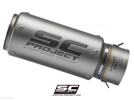 Replacement CR-T Exhaust Silencer for SC-Project 70mm Link Pipe Universal