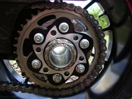 Sprocket Carrier Side Rear Axle Nut by Ducabike Ducati / 1098 S / 2007