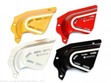 Billet Aluminum Sprocket Cover by Ducabike Ducati / Scrambler 800 Cafe Racer / 2017