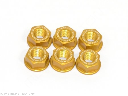 6 Piece Rear Sprocket Carrier Flange Nut Set by Ducabike Ducati / Monster 1200 / 2019