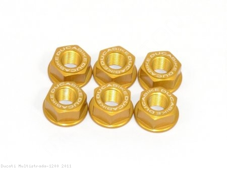6 Piece Rear Sprocket Carrier Flange Nut Set by Ducabike Ducati / Multistrada 1200 / 2011