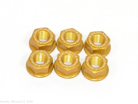 6 Piece Rear Sprocket Carrier Flange Nut Set by Ducabike Ducati / XDiavel S / 2019