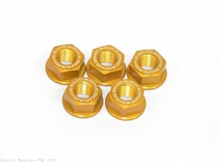 5 Piece Rear Sprocket Carrier Flange Nut Set by Ducabike Ducati / Monster 796 / 2011