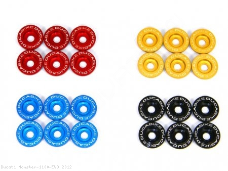 Dry Clutch Billet Aluminum Spring Caps by Ducabike Ducati / Monster 1100 EVO / 2012