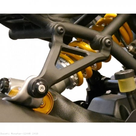 Exhaust Hanger Bracket with Passenger Peg Blockoff by Evotech Performance Ducati / Monster 1200R / 2018