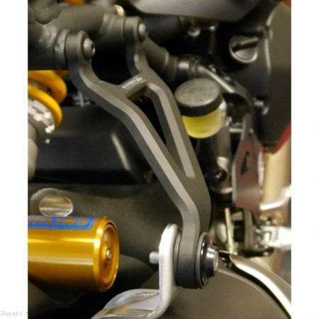 Exhaust Hanger Bracket with Passenger Peg Blockoff by Evotech Performance Ducati / Monster 1200S / 2017