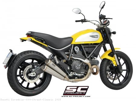 "Conic ""70s Style"" Exhaust by SC-Project Ducati / Scrambler 800 Street Classic / 2019"