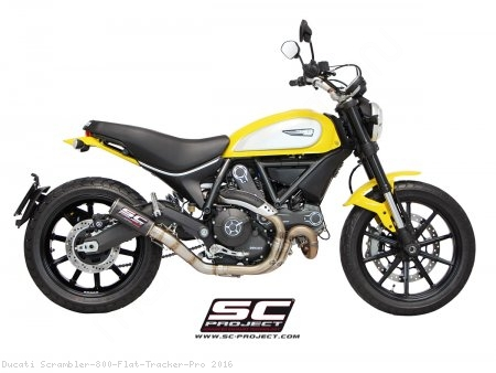 CR-T Exhaust by SC-Project Ducati / Scrambler 800 Flat Tracker Pro / 2016