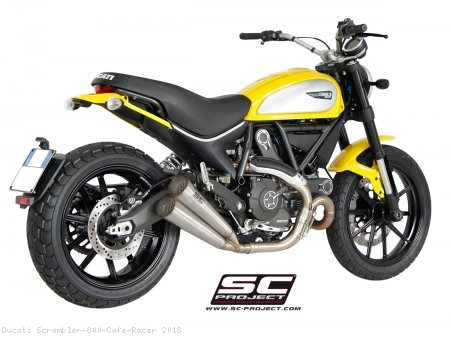 Conic Twin Exhaust by SC-Project Ducati / Scrambler 800 Cafe Racer / 2018