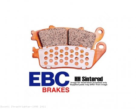 "EBC HH ""Double H"" Superbike Rear Brake Pads Ducati / Streetfighter 1098 / 2011"