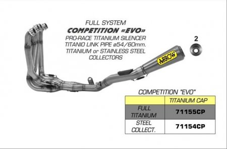 "Competition Pro Race ""EVO"" Full System Exhaust by Arrow"