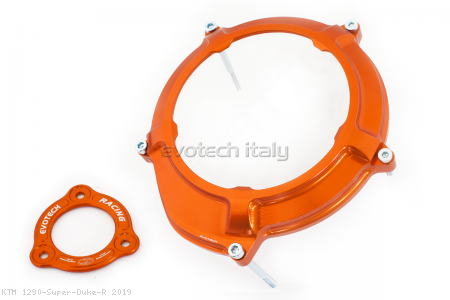 Clear Clutch Cover and Inner Pressure Ring by Evotech Italy KTM / 1290 Super Duke R / 2019