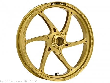 GASS RS-A Aluminum 6 Spoke Front Wheel by OZ Wheels Ducati / Hypermotard 1100 S / 2009