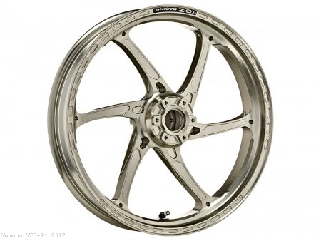 GASS RS-A Aluminum 6 Spoke Front Wheel by OZ Wheels Yamaha / YZF-R1 / 2017