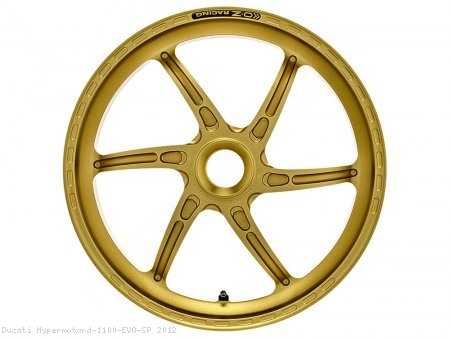 GASS RS-A Aluminum 6 Spoke Rear Wheel by OZ Wheels Ducati / Hypermotard 1100 EVO SP / 2012