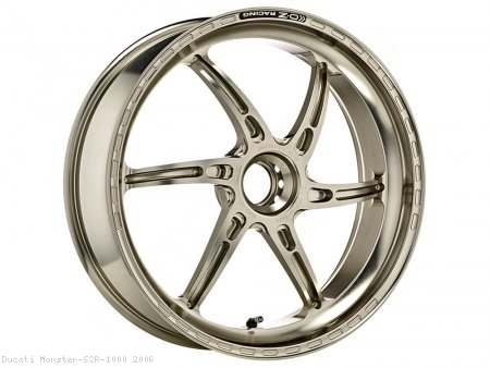 GASS RS-A Aluminum 6 Spoke Rear Wheel by OZ Wheels Ducati / Monster S2R 1000 / 2006