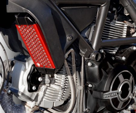 Aluminum Oil Cooler Guard by Ducabike