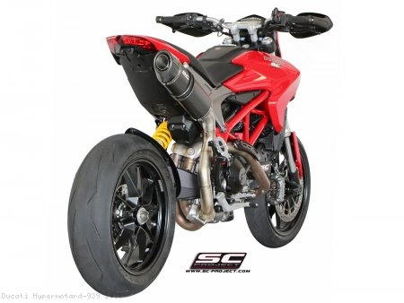 Oval High Mount Exhaust by SC-Project Ducati / Hypermotard 939 / 2016