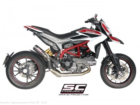 CR-T Exhaust by SC-Project Ducati / Hypermotard 821 SP / 2013
