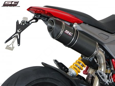 Oval High Mount Exhaust by SC-Project Ducati / Hypermotard 821 SP / 2015