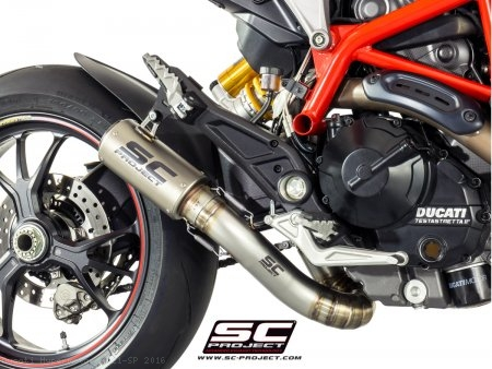 CR-T Exhaust by SC-Project Ducati / Hypermotard 821 SP / 2016