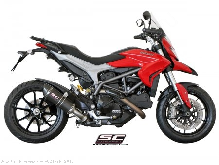 Oval Low Mount Exhaust by SC-Project Ducati / Hypermotard 821 SP / 2013