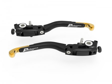 Adjustable Folding Brake and Clutch Lever Set by Ducabike