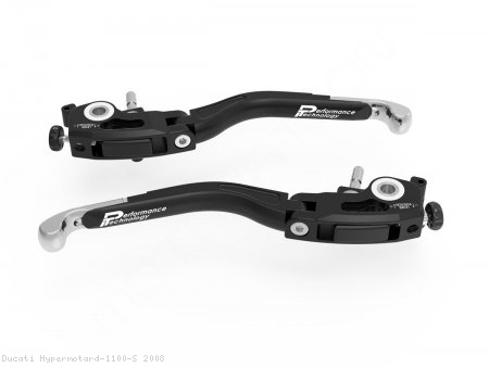 Adjustable Folding Brake and Clutch Lever Set by Ducabike Ducati / Hypermotard 1100 S / 2008
